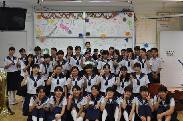 那珂川北中学校・平成27年度ブラスバンド部